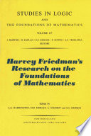 Harvey Friedman s Research on the Foundations of Mathematics