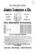 The Aberdeen University Calendar Book PDF