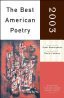 download ebook the best american poetry 2003 pdf epub
