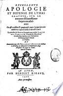 Excellente apologie et defense de Lysias orateur  sur le meurtre d Eratosthene surpris en adultere  ou est traictee et comprinse toute la matiere des adulteres inseree dans le droit ciuil  traduicte de grec en francois par noble Iaque des Comtes de Vintemille Rhodien       commentee par M  Philibert Bugnyon