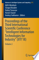 Proceedings Of The Third International Scientific Conference Intelligent Information Technologies For Industry Iiti 18