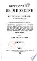 illustration Dictionnaire de médecine, ou, répertoire général des sciences médicales considérées sous le rapport théorique et pratique