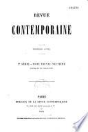 Revue contemporaine (Paris. 1858)