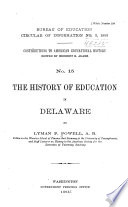 The History of Education in Delaware
