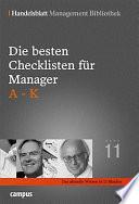Die besten Checklisten für Manager