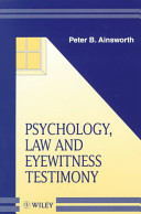 Psychology Law And Eyewitness Testimony book