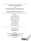 Papers and Proceedings of the Surgeon General s Conference on Agricultural Safety and Health