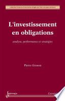 L   investissement en obligations