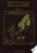 Major Companies of Europe 1990 91 Volume 3