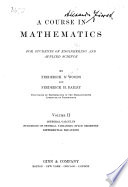 A Course in Mathematics  Integral calculus  functions of several variables  space geometry  differential equations