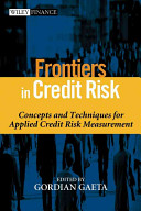 Frontiers In Credit Risk book