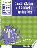Excel Selective Schools and Scholarship English Comprehension Tests