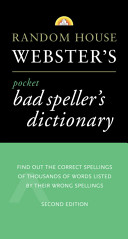 Random House Webster s Pocket Bad Speller s Dictionary