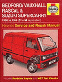Bedford Vauxhall Rascal And Suzuki Supercarry Service And Repair Manual