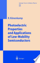 Photoelectric Properties and Applications of Low Mobility Semiconductors