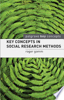 Key Concepts in Social Research Methods
