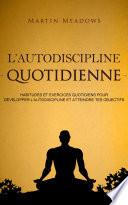 illustration du livre L'autodiscipline quotidienne