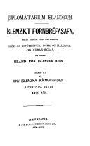 Diplomatarium islandicum: bd. 1261-1521