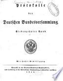 Protokolle der deutschen Bundesversammlung ...