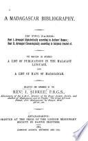 A Madagascar Bibliography Book PDF