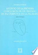 Anuncio de la próxima conclusión de un tratado de paz perpetua en la filosofía