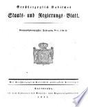 Großherzoglich Badisches Staats- und Regierungsblatt
