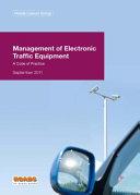 Management of electronic traffic equipment