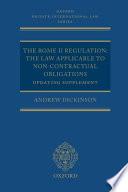 The Rome II Regulation