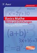 Basics Mathe: Terme und Gleichungen