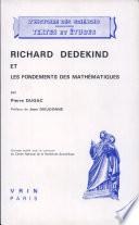 illustration Richard Dedekind et les fondements des mathématiques, avec de nombreux textes inédits