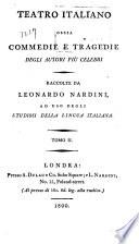 Teatro italiano, ossia, Commedie e tragedie: La Scozzese. Il matrimonio per concorso. La donna di maneggio
