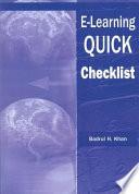 E-learning QUICK Checklist
