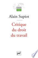 Critique Du Droit Du Travail