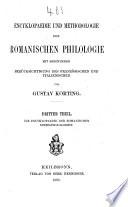 Th. Die Encyklopaedie der romanischen Einzelphilologien. Zusatzheft. Register. Nachträge zu den Litteratur-Angaben