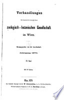 Verhandlungen der Zoologisch Botanischen Gesellschaft in Wien