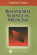 Behavioral Science In Medicine
