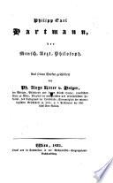 Philipp Carl Hartmann der Mensch, Arzt, Philosoph