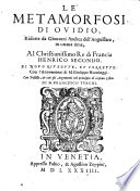Le Metamorfosi d Ovidio     Di G  A  dell Anguillara
