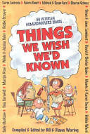 Things We Wish We d Known