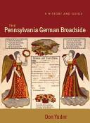 Publications of the Pennsylvania German Society