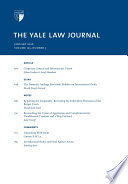 Yale Law Journal Volume 125 Number 3 January 2016