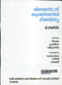 Elements of Experimental Chemistry