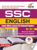 SSC English Topic-wise LATEST 35 Solved Papers (2010-2016)