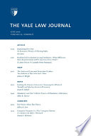 Yale Law Journal  Volume 121  Number 8   June 2012