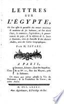 Lettres Sur L'Égypte