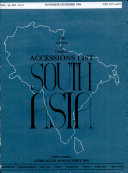 Accessions List, South Asia