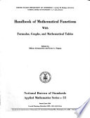 Handbook Of Mathematical Functions With Formulas Graphs And Mathematical Tables