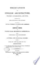 Observations on English architecture