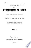 Histoire de la révolution de Rome