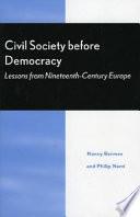 Civil Society Before Democracy